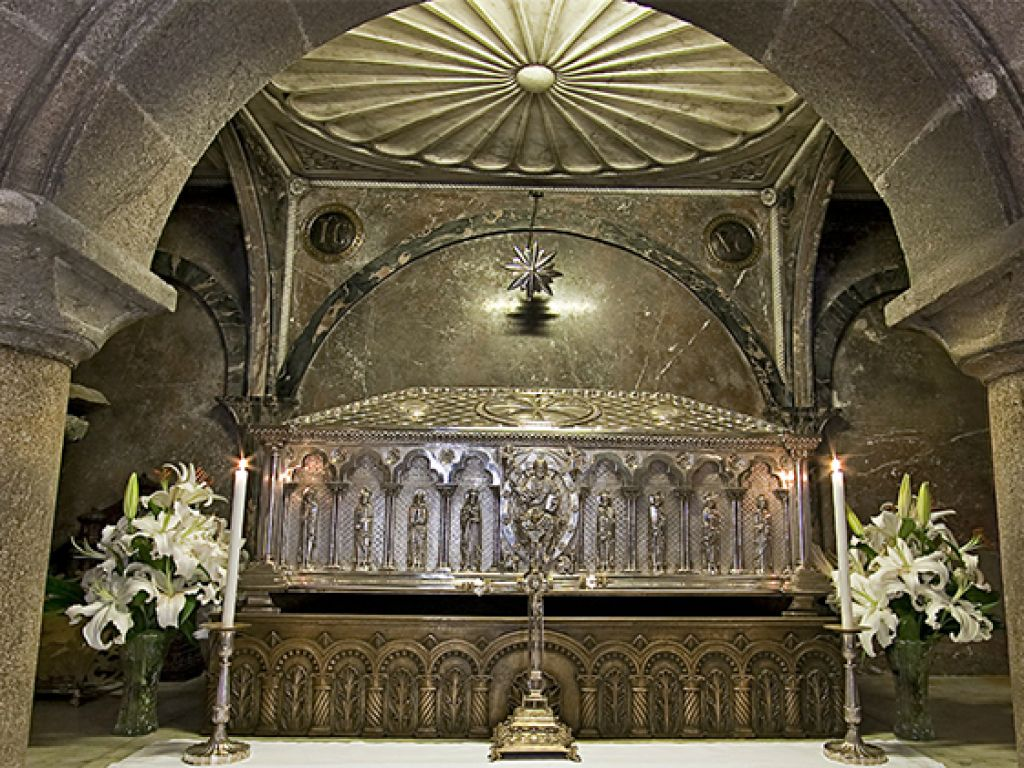 The small underground mausoleum of the Cathedral of Santiago